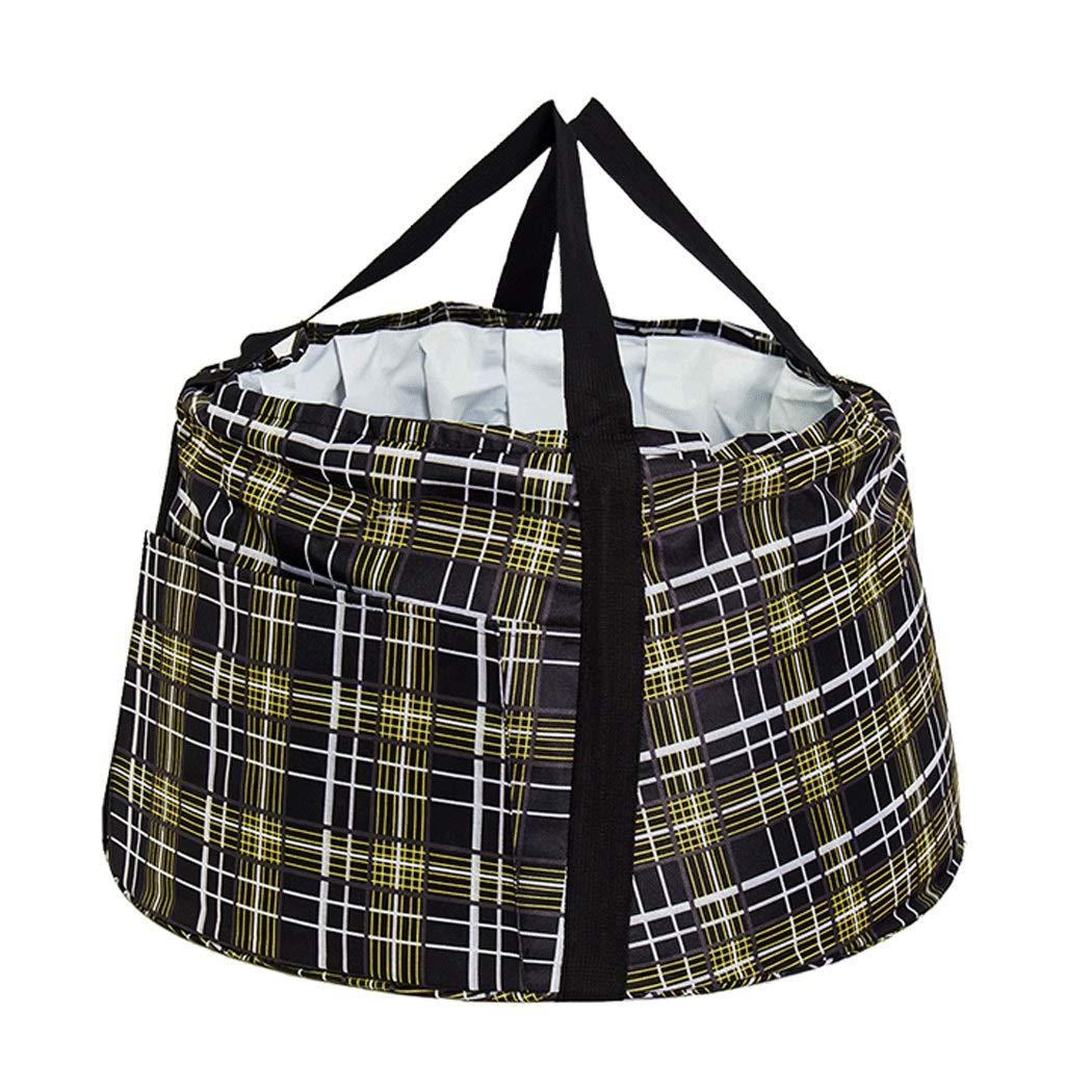 YONGYONG Large Capacity Folding Bath Children's Tub Large Outdoor Travel Bath Portable 35cm*59cm (Color : Black)