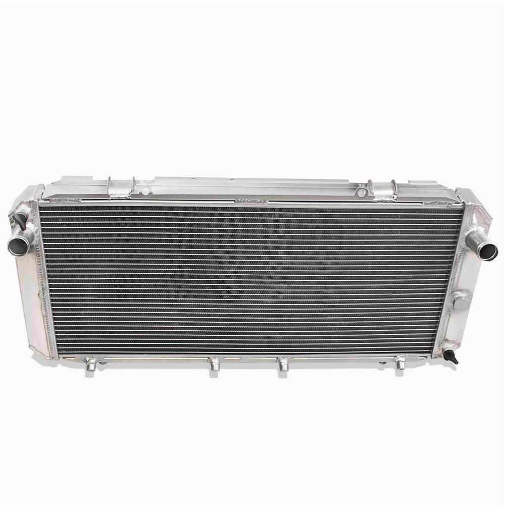 42mm High Flow Aluminium Twin Core Engine Cooling Rennen K/ühler