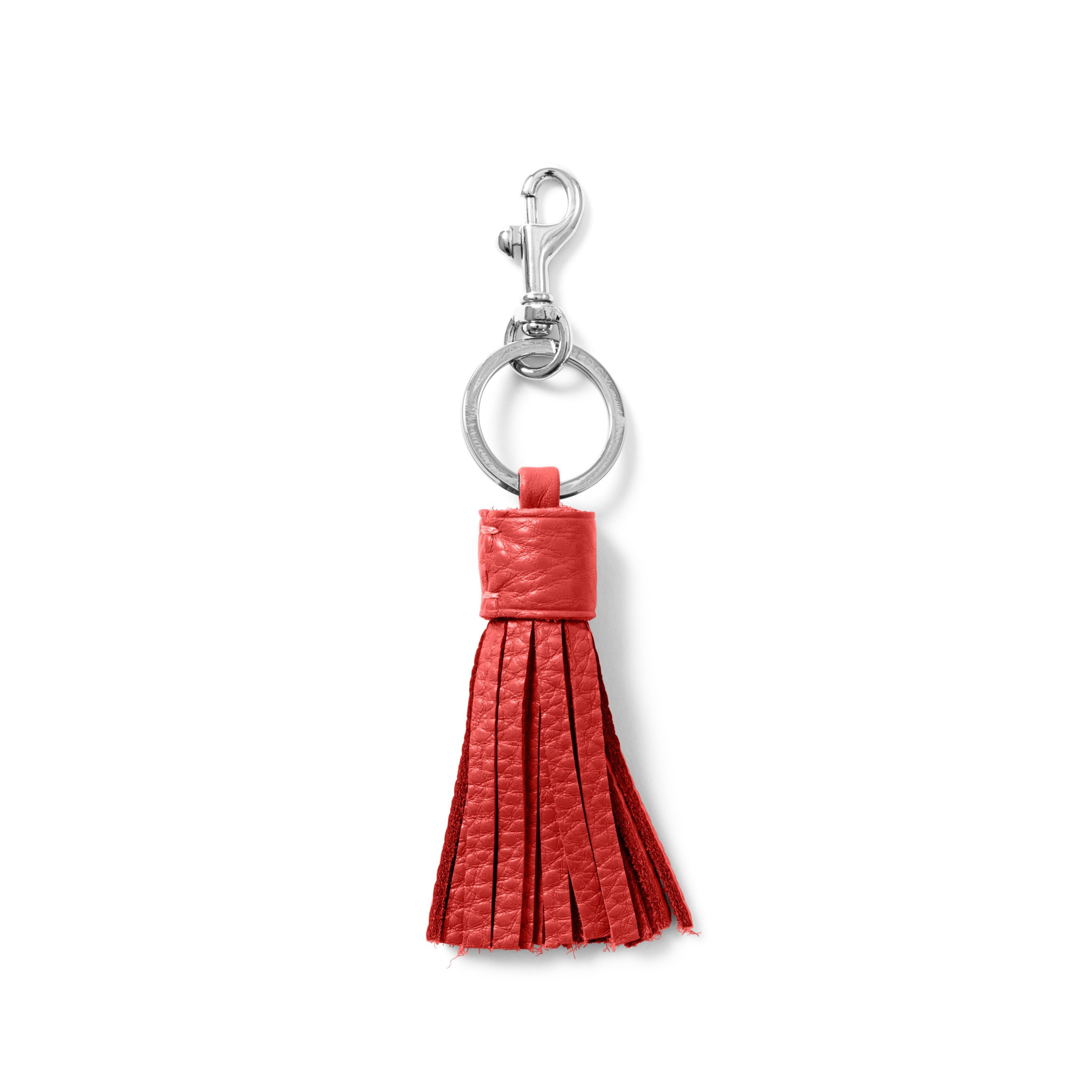 Tassel Key Chain - Full Grain Leather Leather - Scarlet (red)
