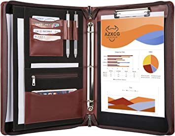 Business Binder Padfolio Case with 3 Ring Binder 3 Ring Binder Portfolio Organizer
