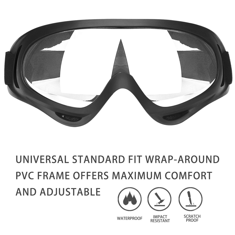 gafas de seguridad protectoras de impacto resistentes a bal/ísticas y antiempa/ñamiento ajuste ajustable para ni/ños de 5 a 12 a/ños de edad para experimentar Gafas de seguridad para ni/ños