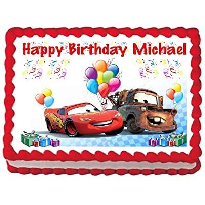 Cars Edible Frosting Sheet Cake Topper - 1/4 Sheet: Kitchen & Dining