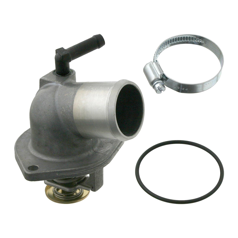 1 St/ück febi bilstein 27869 Thermostat mit Schelle und O-Ring Schalttemperatur 92/° C