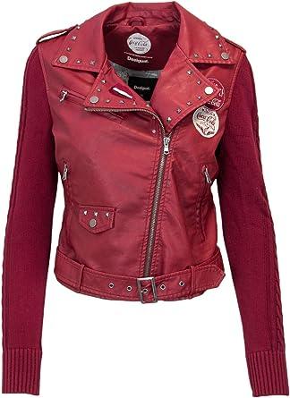 veste desigual femme rouge
