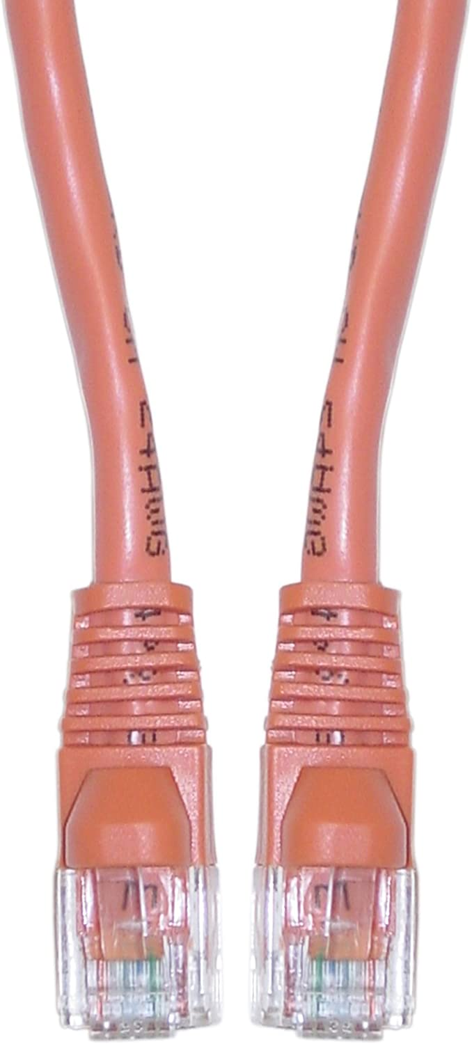 Pack of 10 Snagless//Molded Boot Konnekta Cable Cat6 Orange Ethernet Crossover Cable 3 Foot