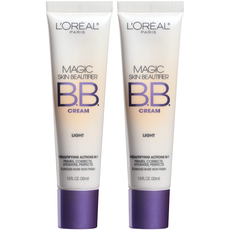 L'Oreal Paris Makeup Magic Skin Beautifier BB Cream, Light, 2 Count