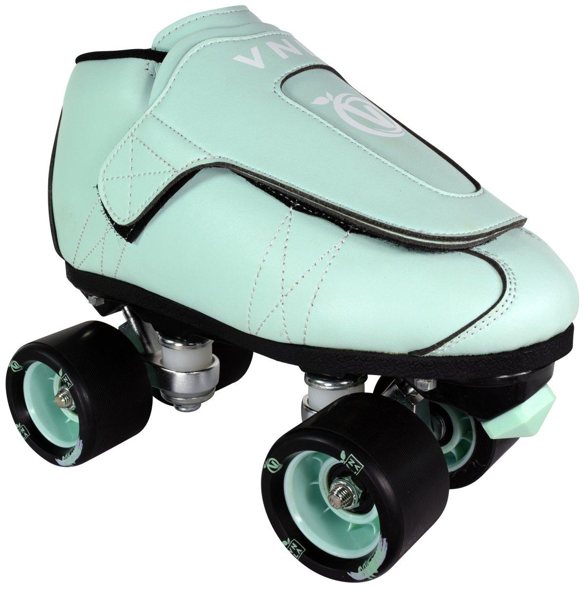 VNLA Mint Jam スケート靴 メンズ&レディース スケート靴 – ローラースケート レディース&メンズ – 調節可能なローラースケート/ローラースケート – アウトドア&インドア大人用スケート – キッズ/キッズスケート(ミントグリーン)  Kids 3