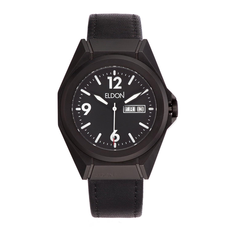 Stealth Schwarz Herren Armbanduhr austauschbar – Eldon (Uhren