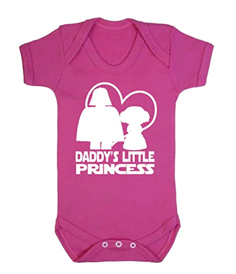 63da8393 Daddy's Little Princess Star Wars Novelty Baby Sleepsuit Vest Babygrow  Onesie Funny Jedi (6-12 Months, Pale Pink): Amazon.co.uk: Baby
