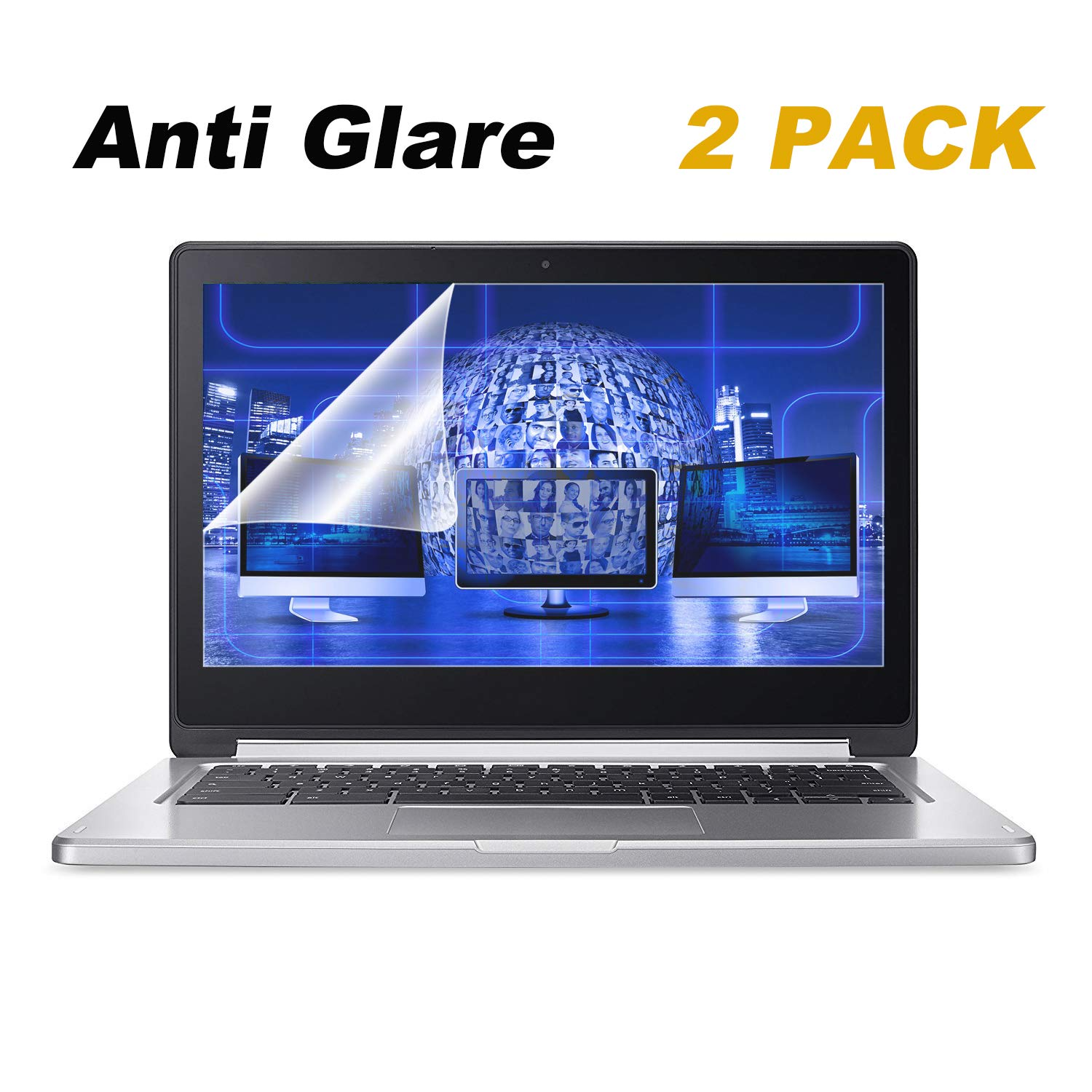 "2 Pack 13.3"" Anti Glare Screen Protector Compatible"