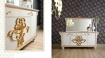 Kommode Mit Spiegel Für Esszimmer In Gold Beige Creme Luxus