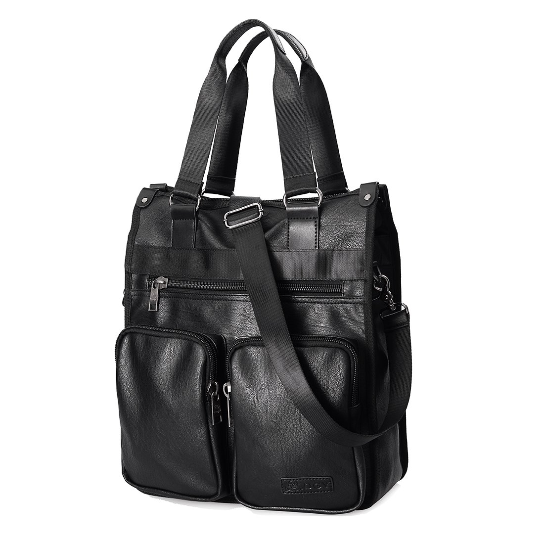 Douguyan Leather Business Handbag Briefcase Shoulder Messenger Bag for Men