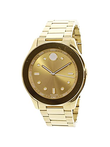 Movado Women s Swiss-Quartz Watch with Gold-Plated-Stainless-Steel Strap, 19 Model 3600416