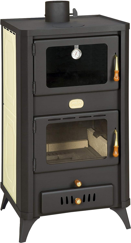 Estufa de leña con horno para sistema de calefacción central. 18+5 kW Potencia de calentamiento.