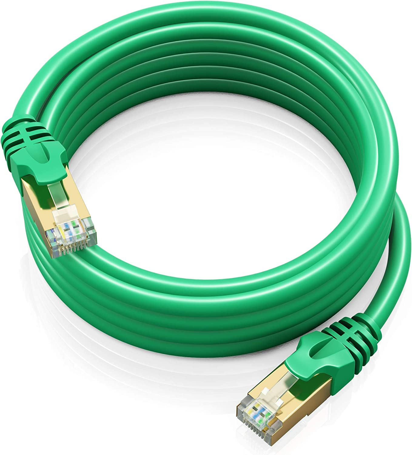 1.5FT Multi Color 600Mhz High Speed Double Shielded UTP 5 Pack 10Gbps Maximm Cat7 Ethernet Cable Patch and Network Cable