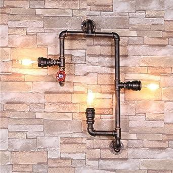 Rustikal Wandlampe Wasser Rohr Wandleuchte Retro Water Pipe Lampe