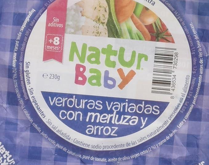 Natur Baby Puré Natural de Verdura para Bebé con Merluza y Arroz - Paquete de 12 x 230 gr - Total: 2760 gr: Amazon.es: Alimentación y bebidas