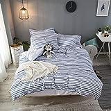 Merryfeel Seersucker Duvet Cover Set King,100% Cotton Woven Seersucker Stripe Bedding Set,3 Pieces (1 Comforter Cover with 2