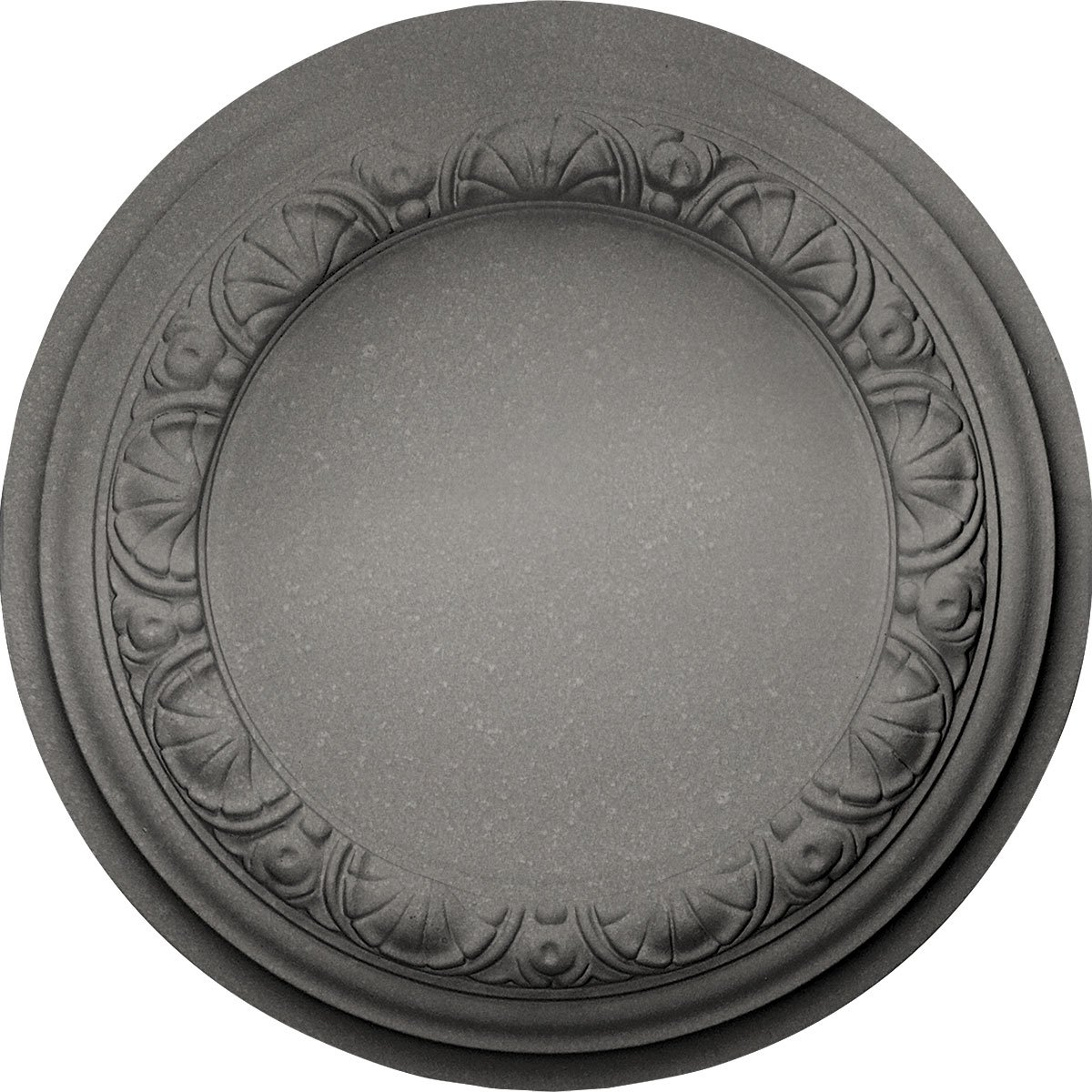 Ekena Millwork CM12CAPLS 12-1/2'' x 1-1/2'' Carlsbad Ceiling Medallion, Platinum