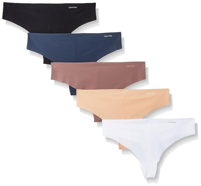 Amazon.com: Calvin Klein Invisibles - Tanga (5 unidades), S ...