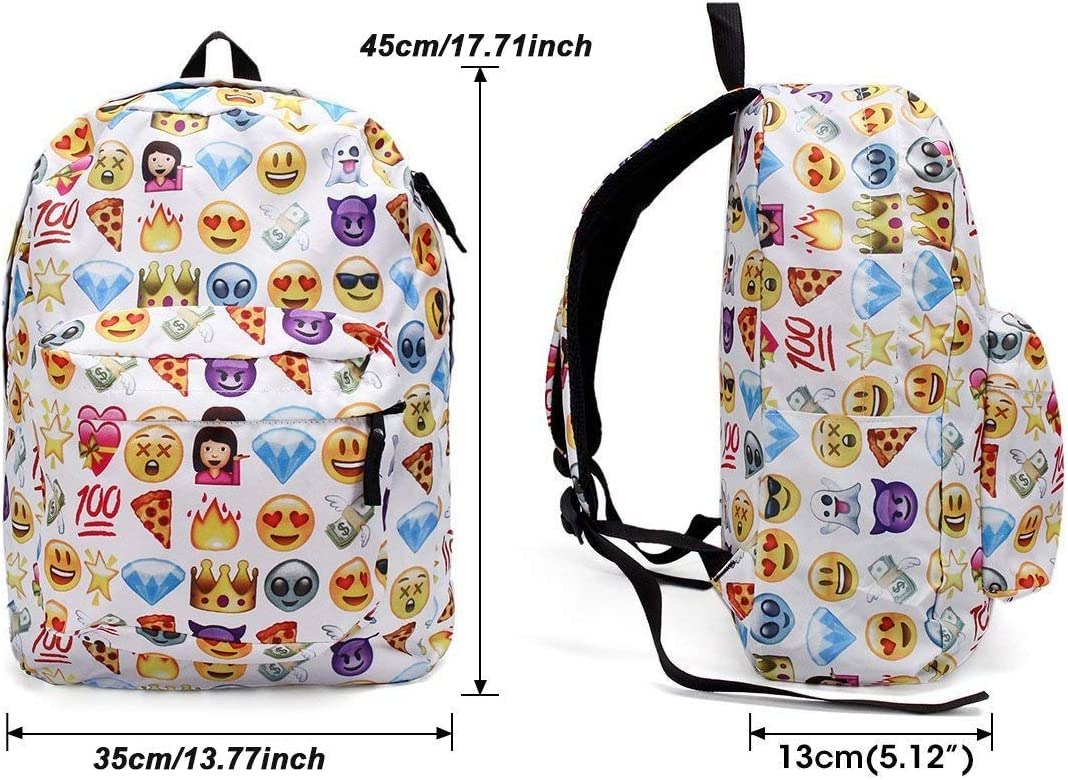 TLMY Yellow Smiley Backpack Personality Cartoon Expression Backpack Backpack