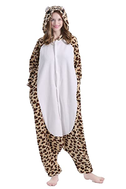brlmall Unisex adulto pijama – peluche One Piece Cosplay leopardo oso Animal Disfraz