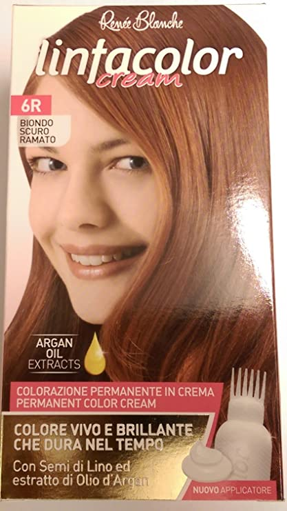 Tinte permanente Linfacolor crema 6R rubio oscuro cobre con ...