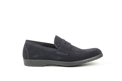 Fratelli Rossetti Hombre 44612Pl02802 Azul Gamuza Mocasín: Amazon.es: Zapatos y complementos
