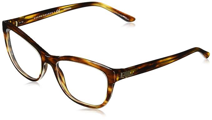 Ralph Lauren 0Rl6170, Monturas de Gafas para Mujer, Top Transparent/Stripped Havana,