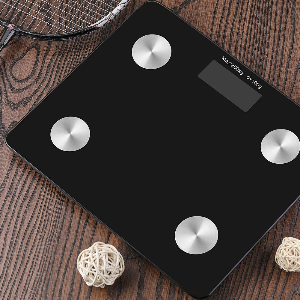 Max.440LBS Black Electronic Smart Bmi Fat Scale with Wifi /& Bluetooth for Home Bath Weighing Measuring Scale Digital Bathroom Weight Scale