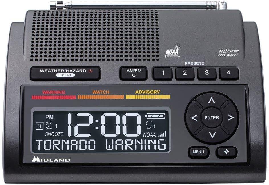 Midland Consumer Radio Weather Radio All Hazard Radio Gray WR400