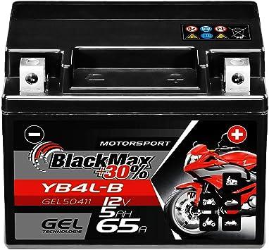 Blackmax Yb4l B Gel Roller Battery 12 V 5 Ah Cb4l B 50411 Maintenance Free Fb4l B Gb4l B Sla4l Bs Auto