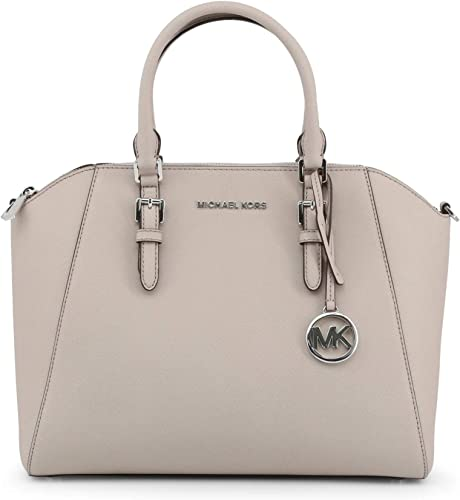 Michael Kors Ciara Large Top Zip Saffiano Leather Satchel