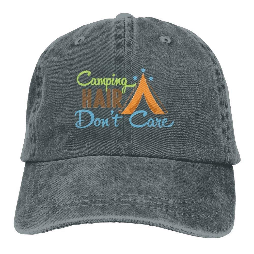 fboylovefor Camping Hair Don't Care Denim Hat Adjustable Male Plain Baseball Caps