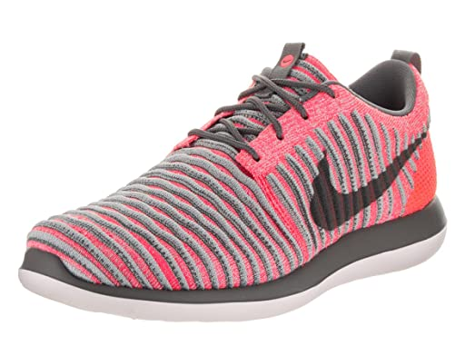 Nike Kids Roshe Two Flyknit (GS) Hot Punch/Dark Grey Wolf Grey Running