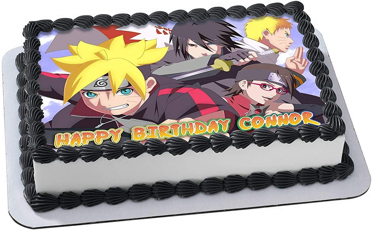 Prime Amazon Com Boruto Naruto Next Generations Topper Personalized Personalised Birthday Cards Sponlily Jamesorg