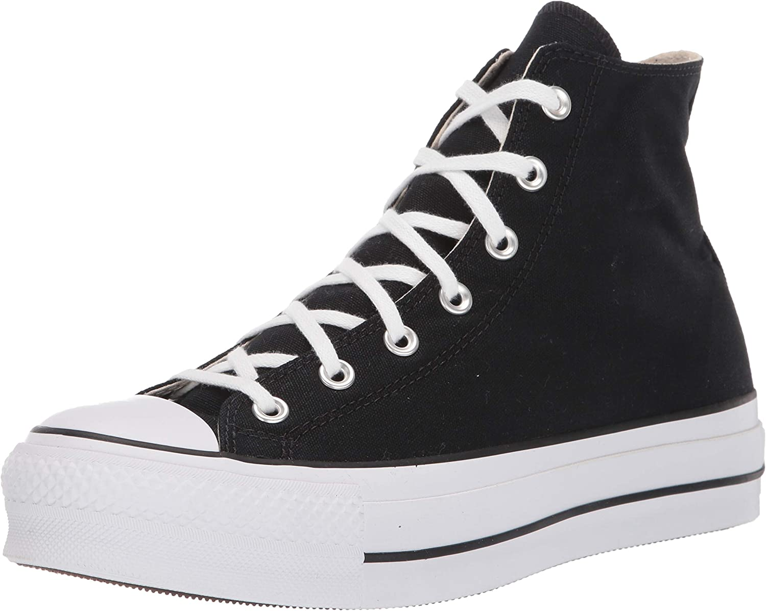 Converse CTAS Lift Hi Black White, Baskets Hautes Mixte Adulte