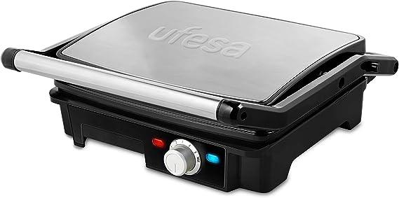 Ufesa PR2000 - Grill, 2200W, Placas antiadherentes,