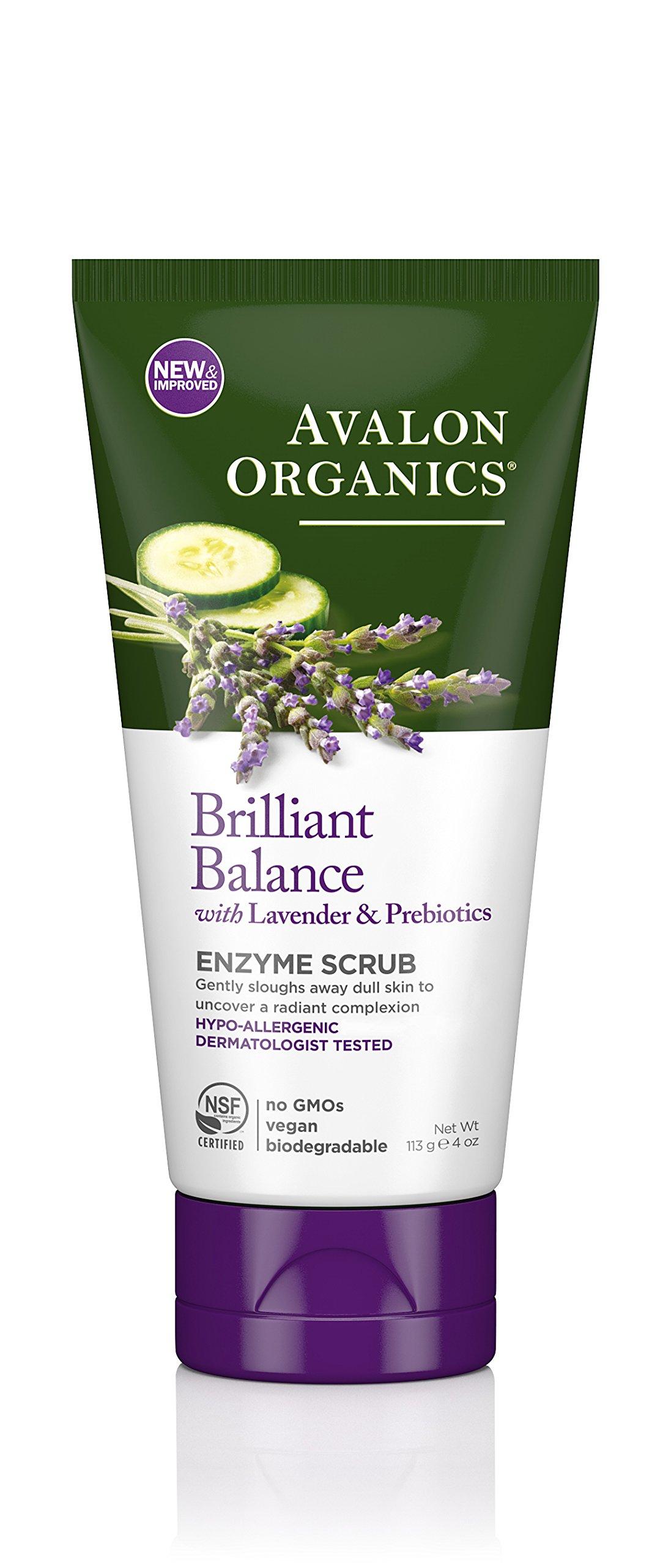 Avalon Organics Brilliant Balance Enzyme Scrub, 4 Ounce