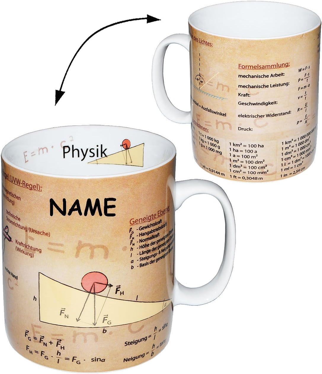 460 ml Name Kaffeetasse incl Studen.. Uni alles-meine.de GmbH Henkeltasse Mathe gro/ß Schule Daten /& Fakten Porzellan // Keramik Hochschule Abitur Physik