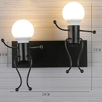 Llevada Aoli Moderna Lámpara Pared Mesa De Doble Creativa E2WH9DI