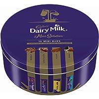 Cadbury Milk Chocolate Assortment Tin (Plain, Bubbly, Flake, Oreo), 250 gm