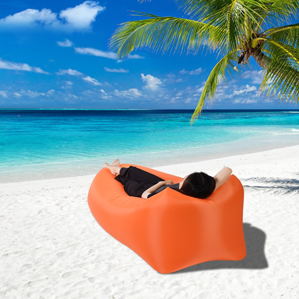 Meiyya Inflatable Sofa,Inflatable Sleeping Air Portable Sofa with Carrying Bag Lazy Lounger Sleeping Bed