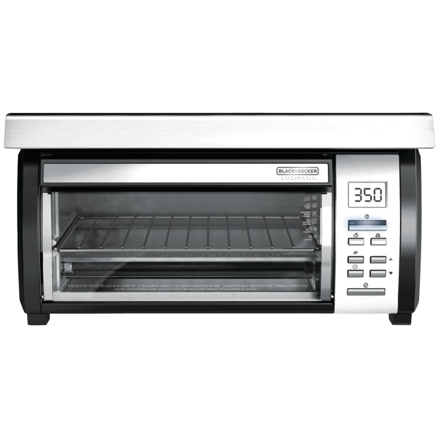 BLACK+DECKER TROS1000D SpaceMaker Under The Cabinet 4-Slice Toaster Oven