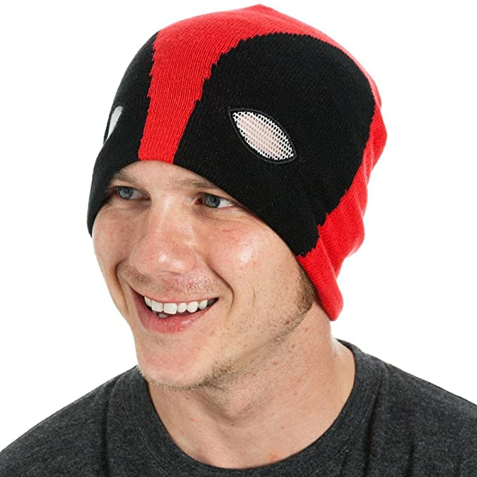 Amazon.com  Marvel Comics Deadpool Slouch Mask Beanie Cap Hat New ... 47abac203b3