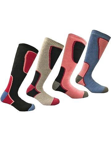 0a0895e7a6 4 Pairs - HIGH PERFORMANCE ladies ski socks - long hose thermal socks