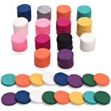 100Pcs Replacement Felt Pads, Essential Oil Diffuser Locket Necklace 0.87 inch