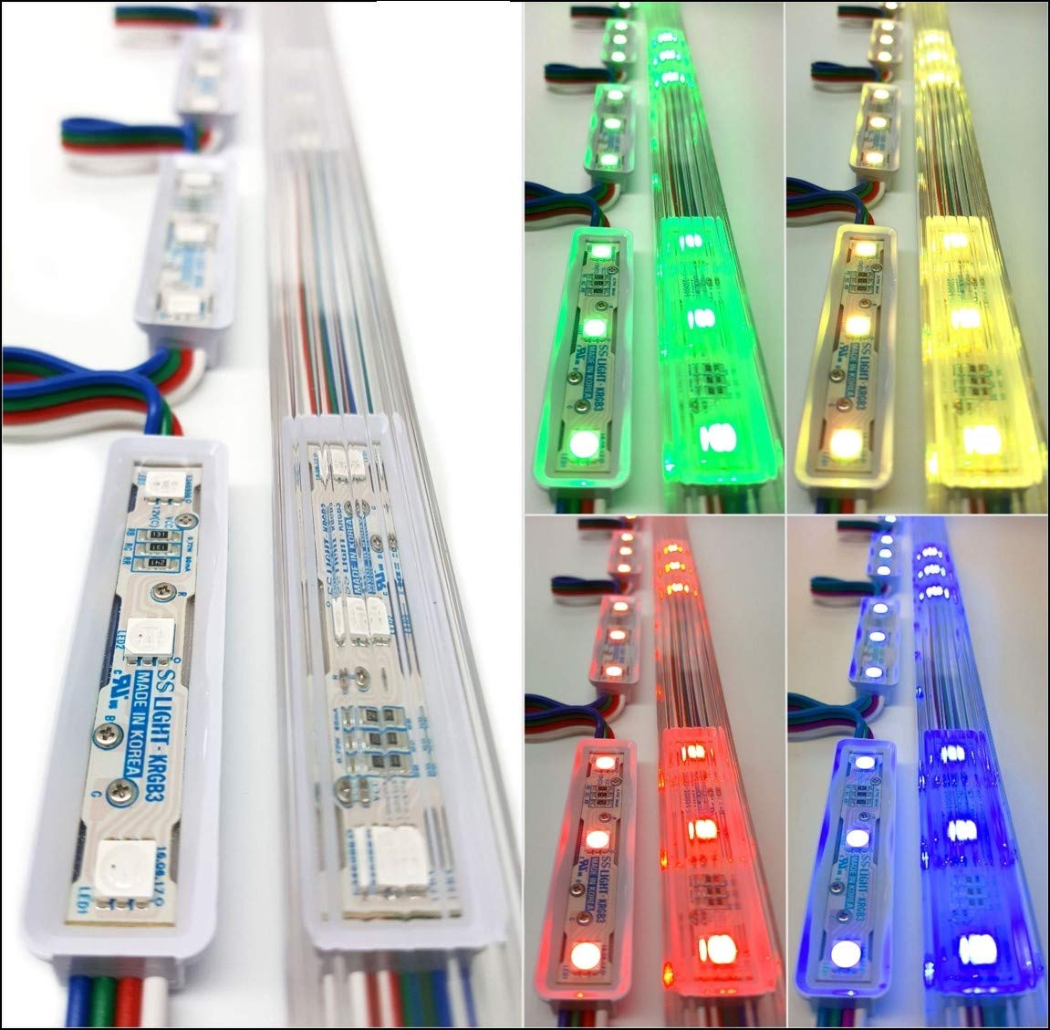 Luxdiyled Storefront Window LED Lights Kit with Protective Tracks (Multi-Colored 50ft)