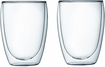 2-Pack Bodum PAVINA Double-Wall Insulated Glass Coffee Mug