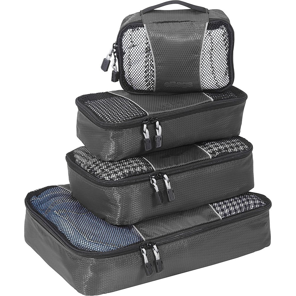 eBags Packing Cubes - 4pc Small/Med Set (Titanium)